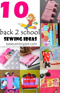 10 Back to School Sewing Ideas with Free Patterns on believeninspire.com