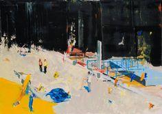 "Saatchi Art Artist Grażyna Smalej; Painting, ""Renovation on the Vistula River"" #art"