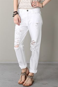 off white boyfriend jeans | Clothing Style | Pinterest | Boyfriend ...