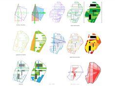 Parc de la Villette proposal diagrams by OMA