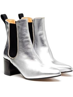 ACNE 'FREE METAL' LEATHER ANKLE BOOTS - perfect for the London Rain