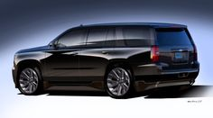 2015-chevrolet-tahoe-black-2013-sema-concept-rear-three-quarters-view-sketch