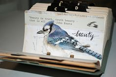 Vintage Rolodex - Art Journal Cards.