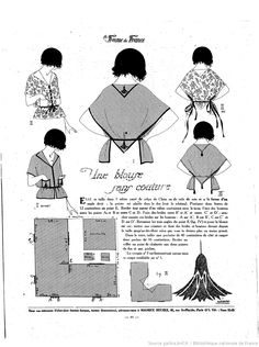 Clever idea that could easily be knitted or crocheted, but easy to sew also. Sewing Patterns Girls, Vintage Patterns, Clothing Patterns, Diy Vintage, Vintage Crafts, Diy Clothing, Sewing Clothes, Diy Couture Mode, Easy Sewing Projects