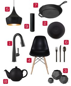 Matte Black Kitchen Design: Ideas For Adding Matte Black Items To Your Kitchen Interior Paint Colors, Paint Colors For Home, Delta Faucets, Design Trends, Design Ideas, Black Kitchens, Kitchen Accessories, Interior Design Living Room, Matte Black