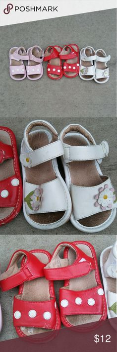 2b1e9987119e6e Toddler girl size 6 sandal bundle Three pairs of size 6 toddler girl  sandals. Shoes