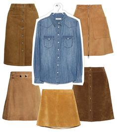 Perfect Pairing: Denim Shirt   Suede Skirt  #InStyle