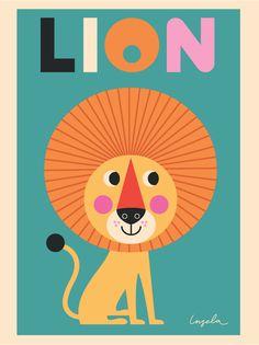 Lovely Lion Art Print for the children's space