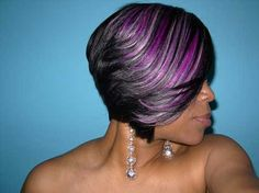 Short Feathered Bob Hairstyles for Black Women