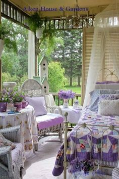 I'd love having this porch. This color, but some netting you could pull around