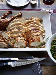 Ina Garten's Make-Ahead Roast Turkey. Carve it in advance!