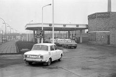 Tankstelle Berlin-Friedrichshain, Mühlenstraße - Mitte der 70er Jahre - später dann BP