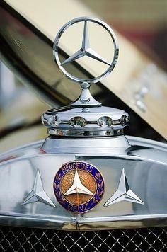 1929 Mercedes-benz Ss Barker Roadster Hood Ornament  by Jill Reger