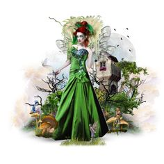 Queen of the forest faries, created by dewgirl007 on Polyvore