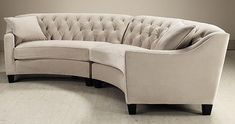 Riemann Curved Tufted Sectional - Sofas And Loveseats - Living Room - Furniture   HomeDecorators.com