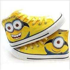 Scarpe-tipo-sneakers-Converse-All-Star-Minion-vari-modelli-num-da-36-a-43