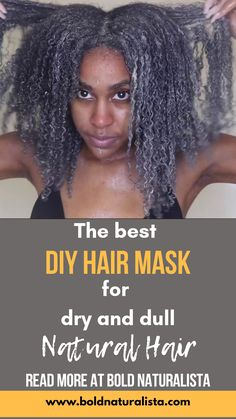 Say goodbye to dry dry hair with this amazing hair mask . Visit the link to find out how you can bring your dry hair back to life. This is my most recommended mask for reviving unhealthy hair and giving it well needed moisture Diy Hair Moisturizer, Moisturizing Hair Mask, Hair Masks For Dry Damaged Hair, Dull Hair, Natural Hair Mask, Natural Hair Styles, Cool Diy, Dry Hair Treatment, Hair Treatments