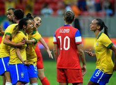 Blog Esportivo do Suíço: Com três gols de Marta, Brasil vence Estados Unidos de virada e está na final