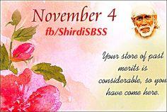 """Your store of past merits is considerable, so you have come here.""   ❤️ॐOM SAI RAMॐ❤️  #sairam #shirdi #saibaba #saideva  Please share; FB: www.fb.com/ShirdiSBSS Twitter: https://twitter.com/shirdisbss Blog: http://ssbshraddhasaburi.blogspot.com  G+: https://plus.google.com/100079055901849941375/posts Pinterest: www.pinterest.com/shirdisaibaba"