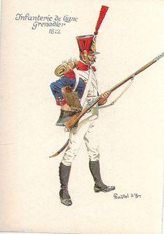 Granatiere della compagnia di un rgt. di fanteria della linea, 1812