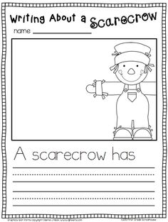 Writing about a scarecrow.