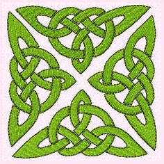 Celtic Square Machine Embroidery Design
