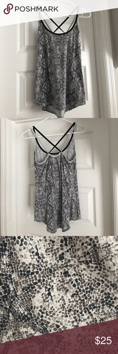 CALIA by Carrie Underwood patterned workout tank Super soft! Inside back tag was cut off because it was itchy. Otherwise in great condition! CALIA by Carrie Underwood Tops Tank Tops