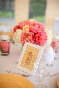 framed table number.