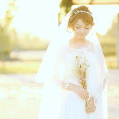 可愛すぎる前髪ありの花嫁ヘアアレンジ特集 | marry[マリー]