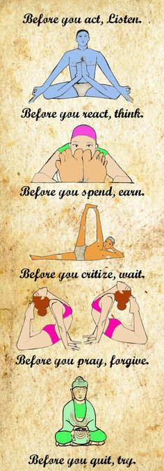 theyogamentor:  Before you act, List
