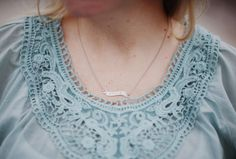 Tattoo Banner Necklace Shown in sterling silver and hand engraved in NYC. By Love & Victory.