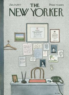 The New Yorker - Monday, January 24, 1977 - Issue # 2710 - Vol. 52 - N° 49 - Cover by : Pierre Le-Tan