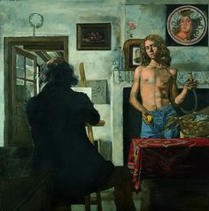 View The artist and his model by Yannis Tsarouchis on artnet. Browse upcoming and past auction lots by Yannis Tsarouchis. Greek Paintings, European Paintings, Street Art, Human Body Art, Fantasy Art Men, Queer Art, Artists And Models, Portraits, Gay Art
