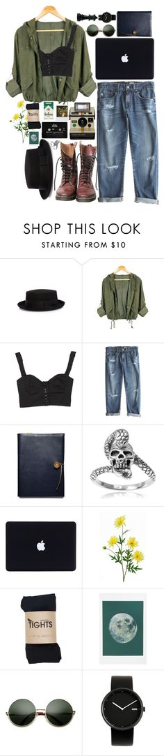 """stay the same"" by xambergurlx ❤ liked on Polyvore featuring Christys', Dr. Martens, Anna & Boy, AG Adriano Goldschmied, Coach, CASSETTE, Tressa and Alessi"