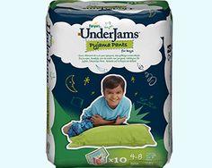 UnderJams pyjamabroekjes zijn een nieuw product van Pampers dat kinderen beschermt tegen bedplassen. Ze zijn speciaal ontworpen om alle privacy en bescherming te bieden, die een kind 's nachts nodig kan hebben. Een kind draagt Underjams als gewoon ondergoed, maar is dankzij de absorberende kern 's nachts beschermd tegen lekken.