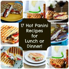 ... Panini Press Meals on Pinterest | Panini press, Paninis and Panini