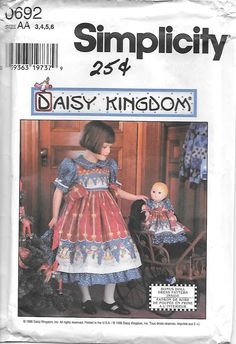 Simplicity 0692 UNCUT Daisy Kingdom Girls от GrandmaMadeWithLove