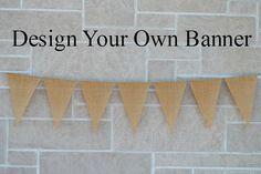 Wedding Banner  ...  Burlap Banner  ...  by expressionsindesign, $22.50