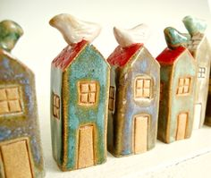 Tiny Clay houses.