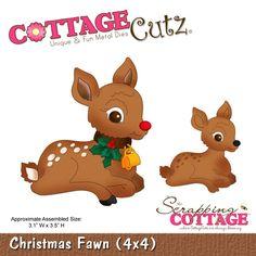 CottageCutz Christmas Fawn (4x4)