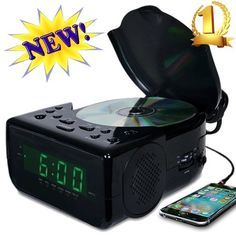 Memorex CD Top Loading CD Dual Alarm Clock AM/FM Stereo Radio with 0.9-Inch Green LED Display and 3.5mm Aux Jack & Headphone Jack input (Black) by Memorex, http://www.amazon.com/dp/B01MYPQ1O6/ref=cm_sw_r_pi_dp_x_sQzqybH4E91M9