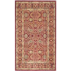Safavieh Valencia Jayden Red/Red Indoor Distressed Throw Rug (Common: 3 x 5; Actual: 3-ft W x 5-ft L)