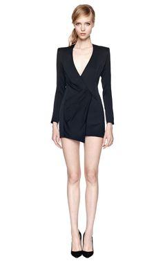 Silk Satin Wrap-Effect Dress by Balmain