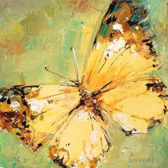 Original Animal Painting by Pavlo Guzenko Butterfly Painting, Butterfly Wallpaper, Butterfly Art, Butterflies, Original Paintings, Original Art, Beginner Painting, Mellow Yellow, Animal Paintings