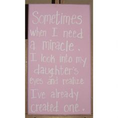 With sweet quotes and cheeky sentiments, you'll delight in this assortment of wooden wall plaques! Includes self-leveling hangers. #family Color: Pink with white font Materials or Fiber Content: wood (pine) - See more at: http://dollinewillis.athome.com/60012203-need-miracle.html#sthash.aOGkXRIo.dpuf
