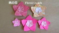 折り紙 桃の花 折り方(niceno1)Origami Flower peach