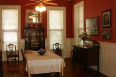vintage Victorian dining room