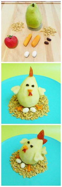 Easy tutorial to make this adorable chicken pear!