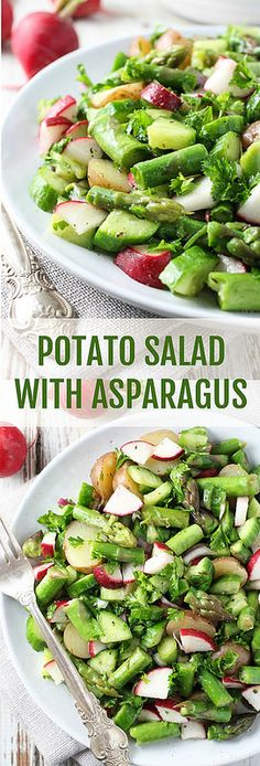 This Potato Salad with Asparagus is very healthy and easy to prepare. It is full of wonderful seasonal veggies and very filling. Perfect for spring and early summer.