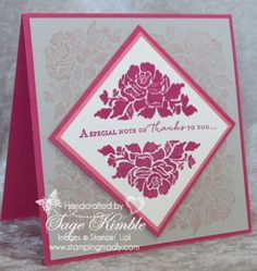 Handmade thank you card from Stamping Madly using Floral Phrases stamp set from Stampin' Up!